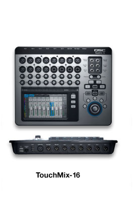 TouchMix Mixer - Produkte - Live Sound - QSC German Language Site - QSC