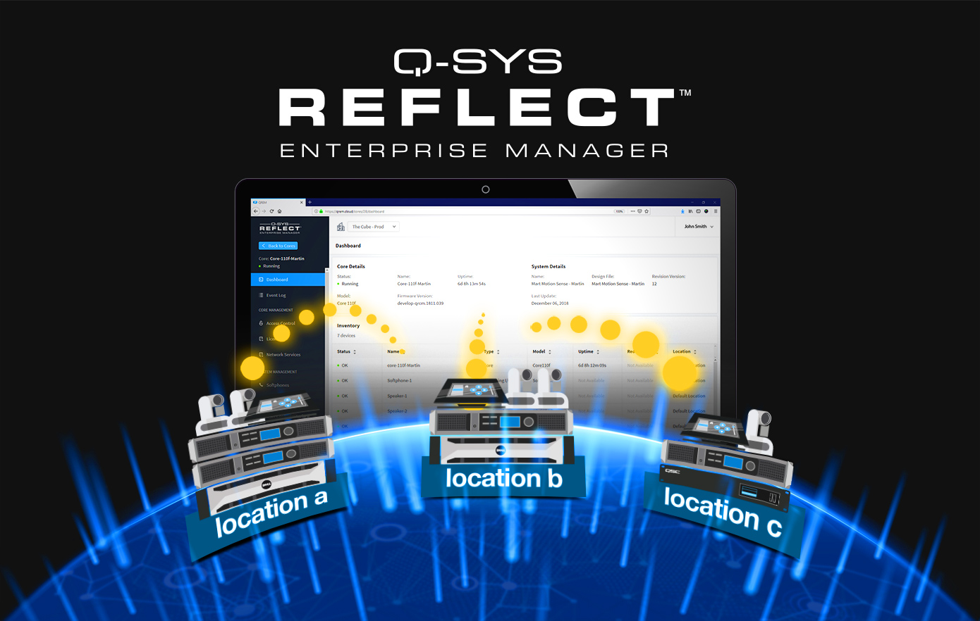 Control without Compromise introducing Q-SYS Control - qsys reflect locations diagram