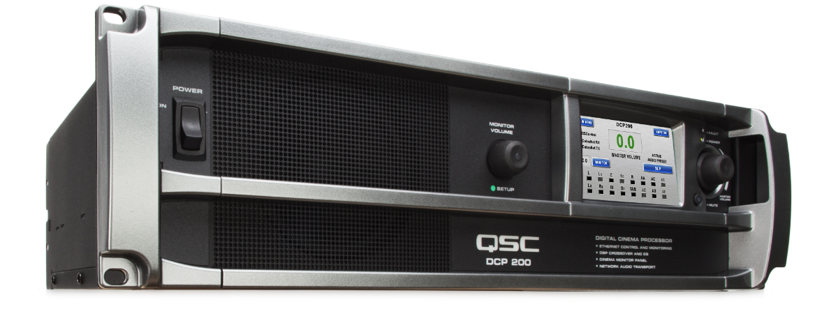 dcp 200 digital cinema processor qsc