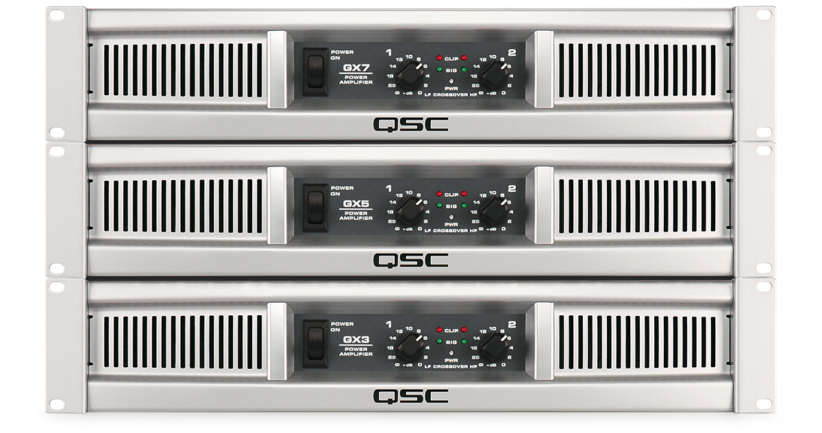GX Series - Power Amplifiers - Products - Live Sound - QSC on
