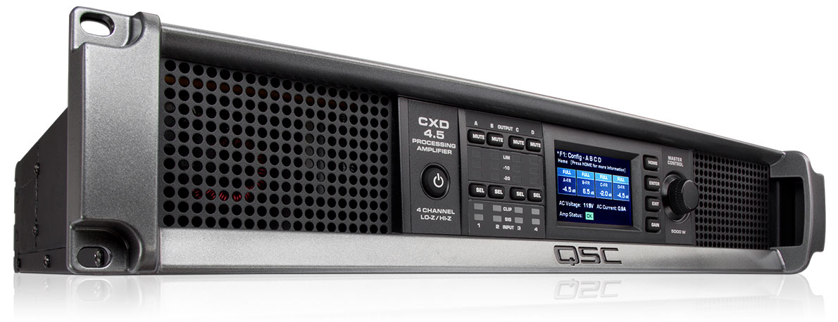 CXD4 5 Power Amplifier with DSP for System Integration - QSC