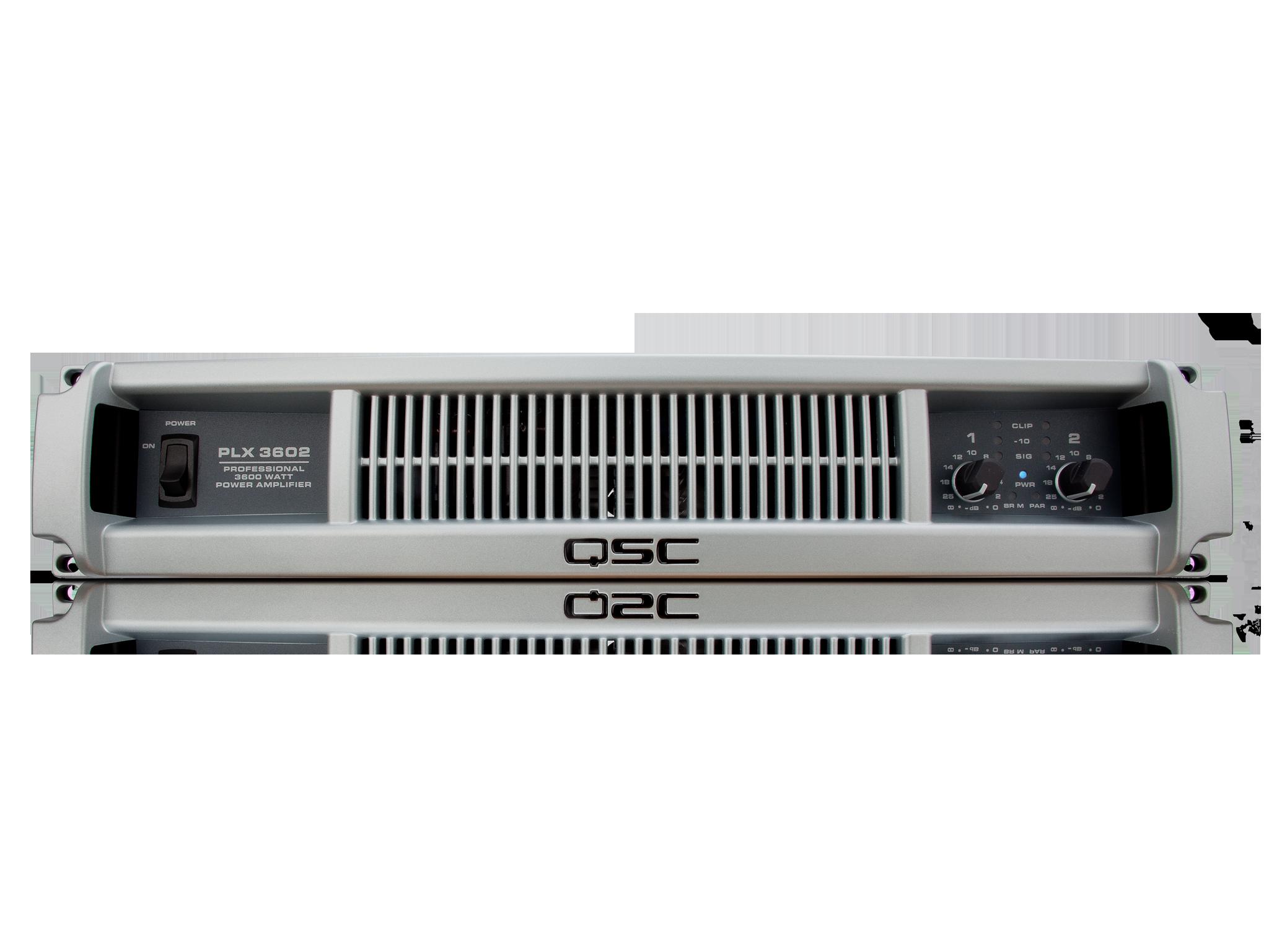 Plx3602 Power Amplifier Qsc 200 Watts Super Bridge Amplifiers Front
