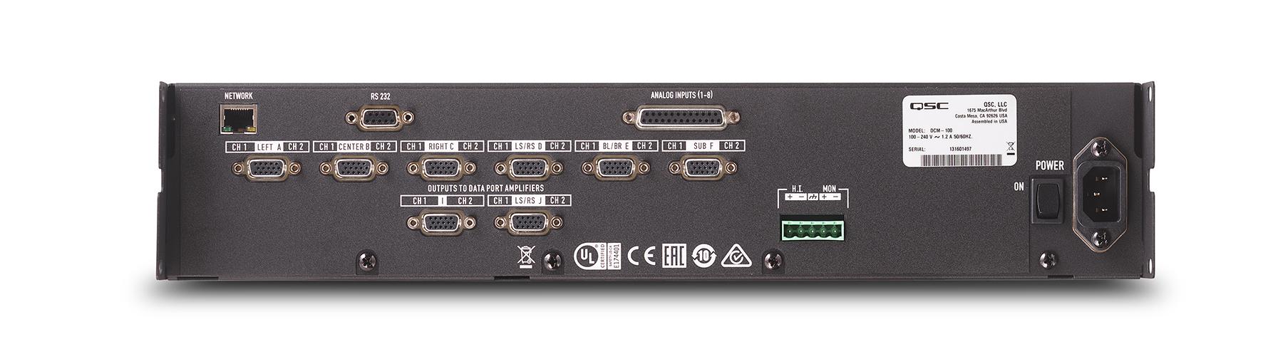 d6935ba15e5 DCM 100 - DCM Series - QSC Processors - Processing - Products - Cinema - QSC