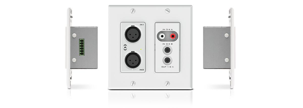 HDTV Wall Plate 2x HDMI 1x USB 1x F Coax 1x Cat5 1x Toslink White Decora