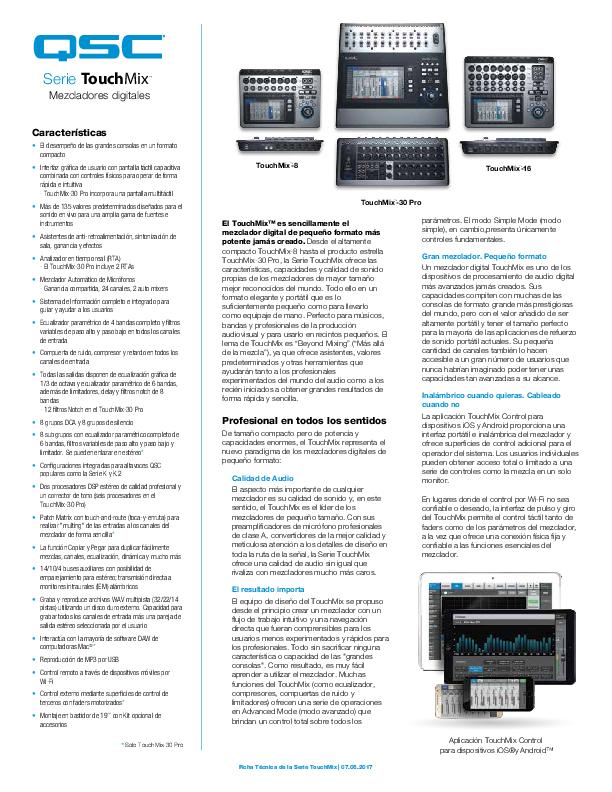 Touchmix 8 Compact Digital Mixer