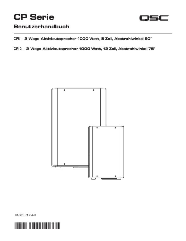 CP12 - CP Series - Active Loudspeakers - Loudspeakers - Products