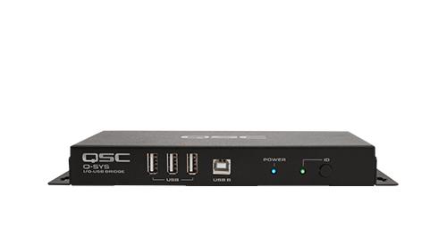 I/O-USB Bridge Peripheral   QSC Q-SYS™ AV-to-USB Bridging Solution